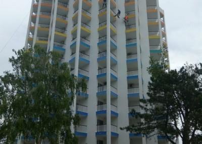 Alpinisti utilitari in Constanta - vopsire exterioara hoteluri Mera Resort Venus - www.termosistemconstruct.ro 002