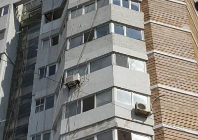 izolatii exterioare la bloc de apartamente cu alpinisti utilitari in Constanta 2