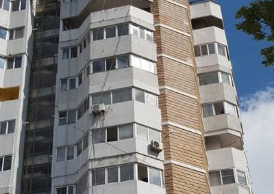 vopsitorii si reparatii exterioare la bloc de apartamente cu alpinisti utilitari in Constanta 1